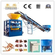 QT4-24 dongyue concrete block machine and cement coal ash brick making machine