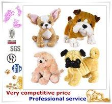 China custom factory stuffed dog animal plush toy kids plush dog toy