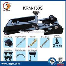 Underbody Hard chorme single acting stroke 604mm hydraulic ram unit for dump truck KRM160S