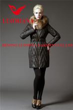 Invernale vendita calda invernale vendita calda freddo nero grid's delle donne piumini