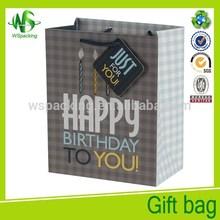 Happy birthday paper bag fancy Luxury paper bag gift package bag