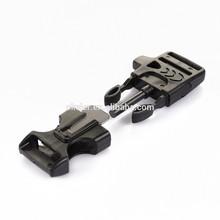 Side Release Buckle w/ Whistle Scraper Flint Fire Starter for Paracord Bracelet