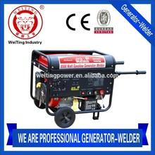 CE approved JWS Series 6.5KW/7KW single phase gasoline generator welder machine / mma 200 arc welder(JWS-300E)