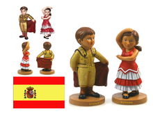 The Spanish bullfight dance custom reisn bobble head bodies