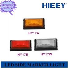 E-MARK Approval led auto light truck led side marker lamp ,10/30v led trailer side marker light