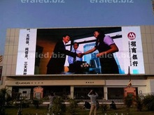 Full color HD LED screen led time temperature and date display HD advertising LED screen