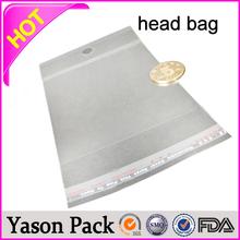 YASON opp header bag for towel package bopp pen bag with header bopp header bag