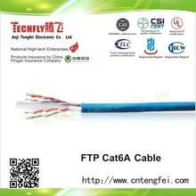 FTP Cat6A Lan Cable,Copper conductor.HDPE.New PVC sheathed,Al Foil shoelding.