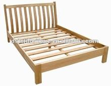 wooden bed frame / solid oak bed/ wood bed frame design oak furniture