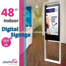 indoor 48 inch retail shop digital advertising led media player monitor