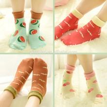 women fruit or mustache pattern cotton socks