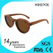 Promotional neon orange wooden bamboo sunglasses with case