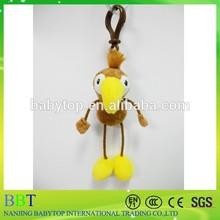mini plush animal keychain,custom plush parrot keychain,soft pvc keychain available