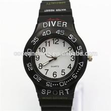Fashion diver men's watch, vogue watches men, silicone women's watch