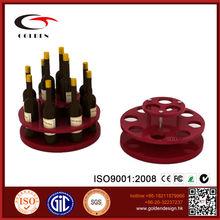 New design Acrylic and wood wine bottle wine rack display stand