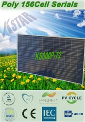 stock of High quality and Copetitive price polycrystalline 300W solar panel(KS300P-72) on sale