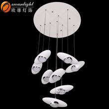 plastic chandelier lighting,plastic tulip electric lights OM1020-9A