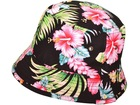 Pink Hibiscus Hawaiian Floral Print Bucket Hat Boonie Cap Beach Fishing Outdoors
