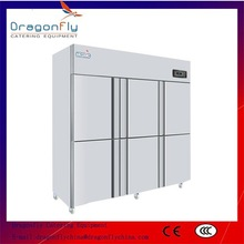 6 Door Stainless Steel Refrigerator , Double temperature with CE