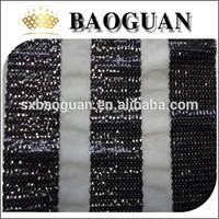 black stripe sequin embroidery fabric BG2156