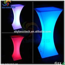 Color changes portable tables,led light table decoration