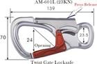 Twist locksafe Hook, Metal Hook, Snap Hook