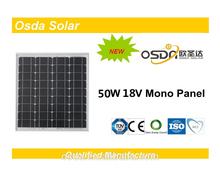 Photovoltaic 50W Mono Osda Solar Panel price per watt solar panels