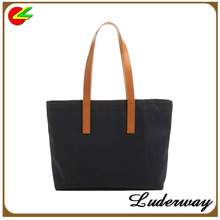 The twill cotton cloth Zip Tote shopping bag