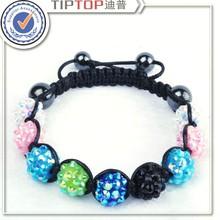 latest fashion hot sale magnetic resin beads bracelet enamel jewelry