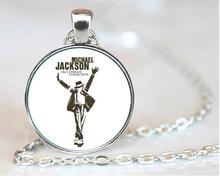 glass sticker necklace Classic Michael Jackson Moonwalk Long Necklace Fans Star Vintage Jewelry statement necklace