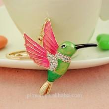Bird with fur design fashion rhinestone key chain key ring SK2187