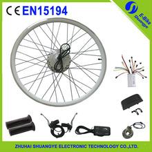 Roda traseira da bicicleta elétrica kit de conversão 250 w com alavanca do freio