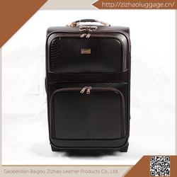 High evaluation durable polyester/eva/pu pu luggage,carry-on luggage