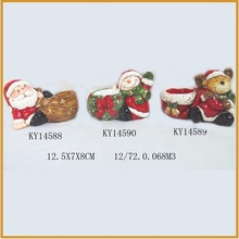 animated small ceramic christmas figurine for outdoor decoration