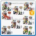 Mini Qute LELE 8pcs/set Ninja & human skeleton boys kids model collection building block action figures educational toy NO.78068
