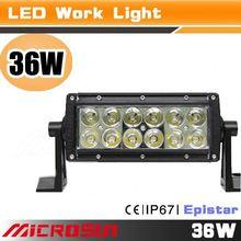 ATV part 20 inch king kong led light bar car led work light bar 36w