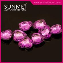 Purple Velvet Pointed Back Heart Embellishments for Furniture