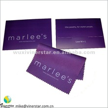 custom microfiber jewelry polishing cloth in PMS color with sublimation logo