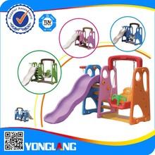 Plastic indoor baby slide and swing 980B