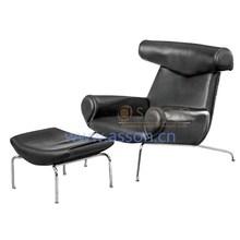 Replica Hans J Wegner OX chair and ottoman