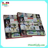 Wedding photo album book/Perfect binding hardcover photo book printing