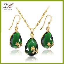 Daihe DH-NC2830 Vintage Copper Necklace Set, Indian Cubic Zirconia Jewelry Necklace Set