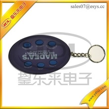 Existing mold musical keyholder with recordable button / Sound key ring