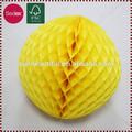 Belle die-cut papier nid d'abeille balle décorations de noël à la main