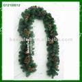 pinha verde pvc árvore de natal guirlanda
