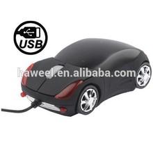 800DPI Car Style USB Optical Mouse (Black)