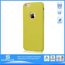 Clear Hard Back crazy selling leather phone case for apple iphone 6 plus