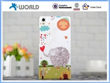 Wholesale price 2015 gift protect fashion sunny hard phone covers for Huawei P7