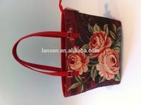 Ladies fashion bag/imitate handmade bag/pastoral style bag