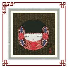 NKF china folk dolly girl (2) cross stitch folk art patterns